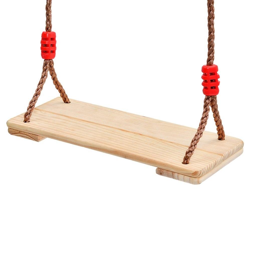 Adultes enfants balançoire jardin cour arbre suspendu balançoire siège avec corde environnement en bois balançoire intérieure extérieure