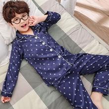 Купить с кэшбэком Kids Boy Girl Satin Pajama Top + Pajamas Set Lounge Wear Nightwear Sleepwear Set
