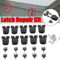 50PCS Spa Hot Tub Cover Broken Latch Repair Kit Clip Lock with Key and Hardware with screw