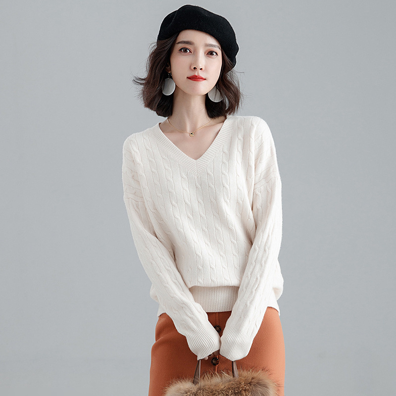 Imitate cashmere sweater 2018 autumn and winter women's pullover loose sweater thick sweater woman j987a
