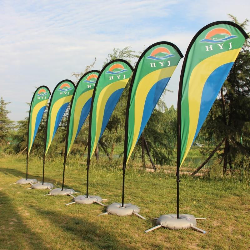 Drapeaux et bannières drapeau de plage en forme de larme et mât avec Base graphique drapeau imprimé personnalisé événement de Promotion de la publicité extérieure