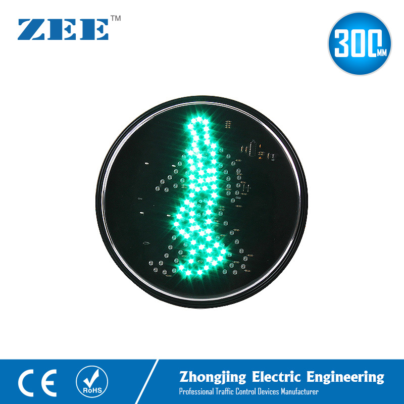 12 Inches 300mm Dynamic Green Walk Man LED Traffic Lamp Round LED Traffic Light Replacement Pedestrian Traffic Signals