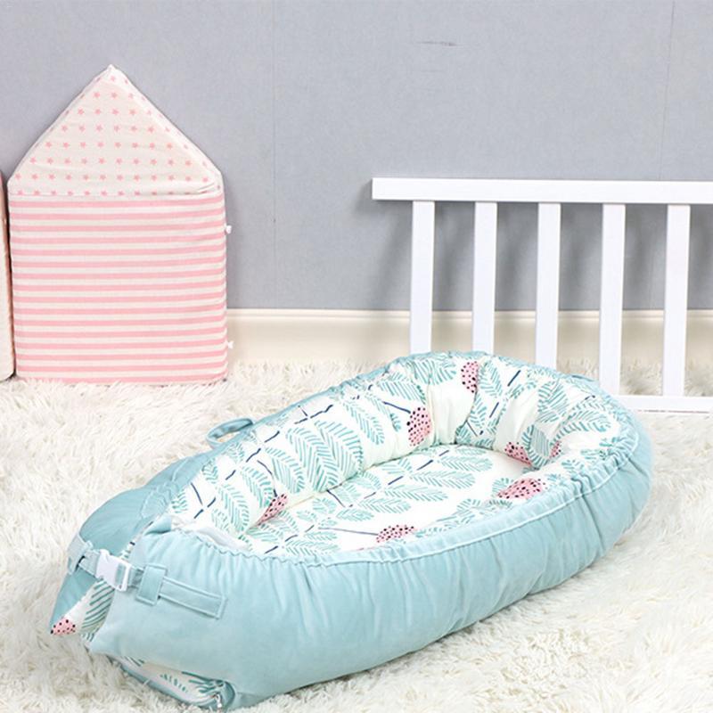 Lit bébé nid berceau Portable amovible et lavable lit de voyage pour enfants bébé enfants flanelle coton velours berceau Mattres - 3