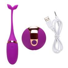 Rechargeable G-spot Massage Exercise Vibrating Egg Remote Control Vibrator Telecontrol Vaginal Kegel Ball Sex Toys For Women