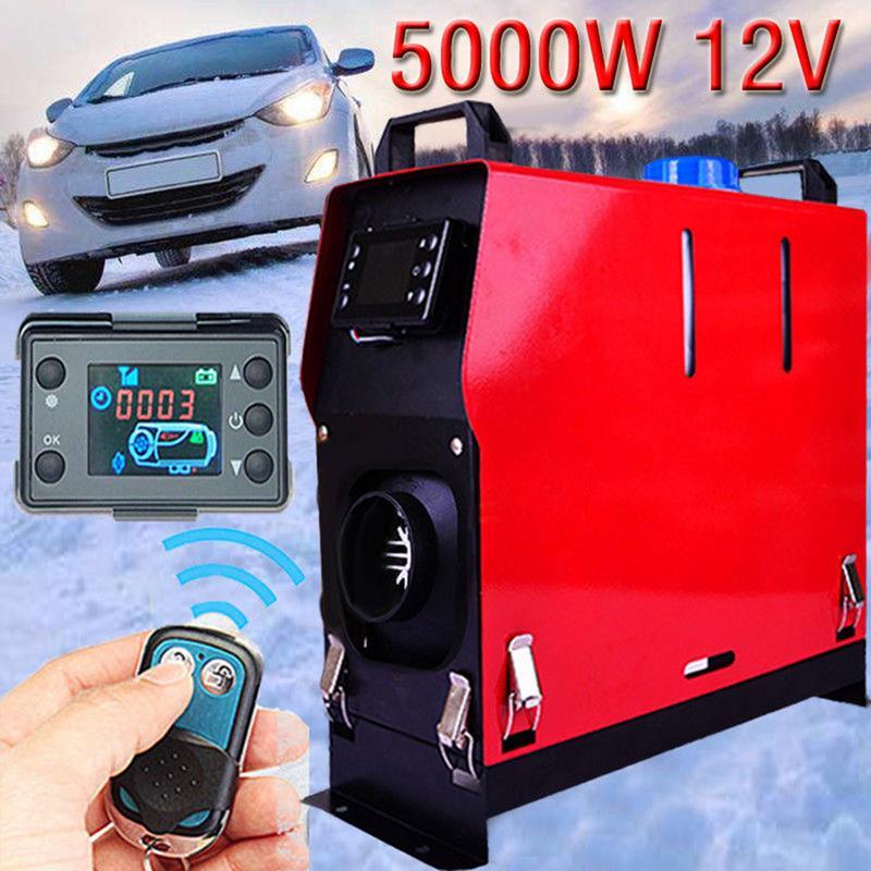 12V 5000W Aquecedor Do Carro Universal All-in-One Máquina de Furo Único Monitor LCD Aquecedor de Estacionamento Diesel warmer Para Barcos de Ônibus Do Caminhão Do Carro