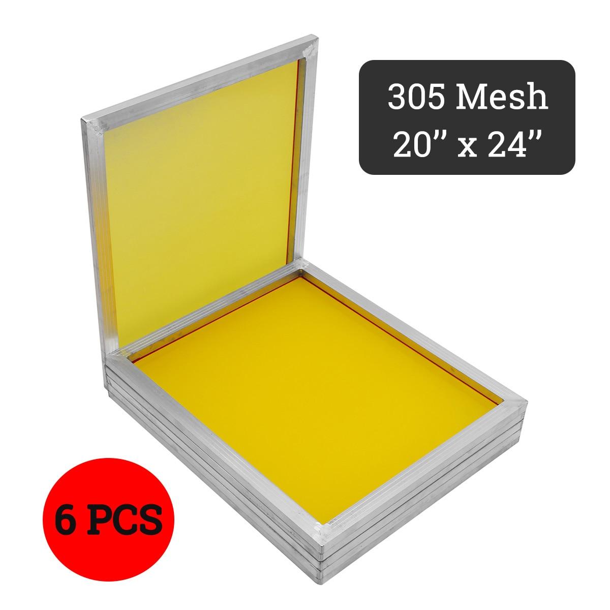 Doersupp 6 pièces/ensemble 350 T maille jaune aluminium sérigraphie presse cadre écrans taille 50x60 cm