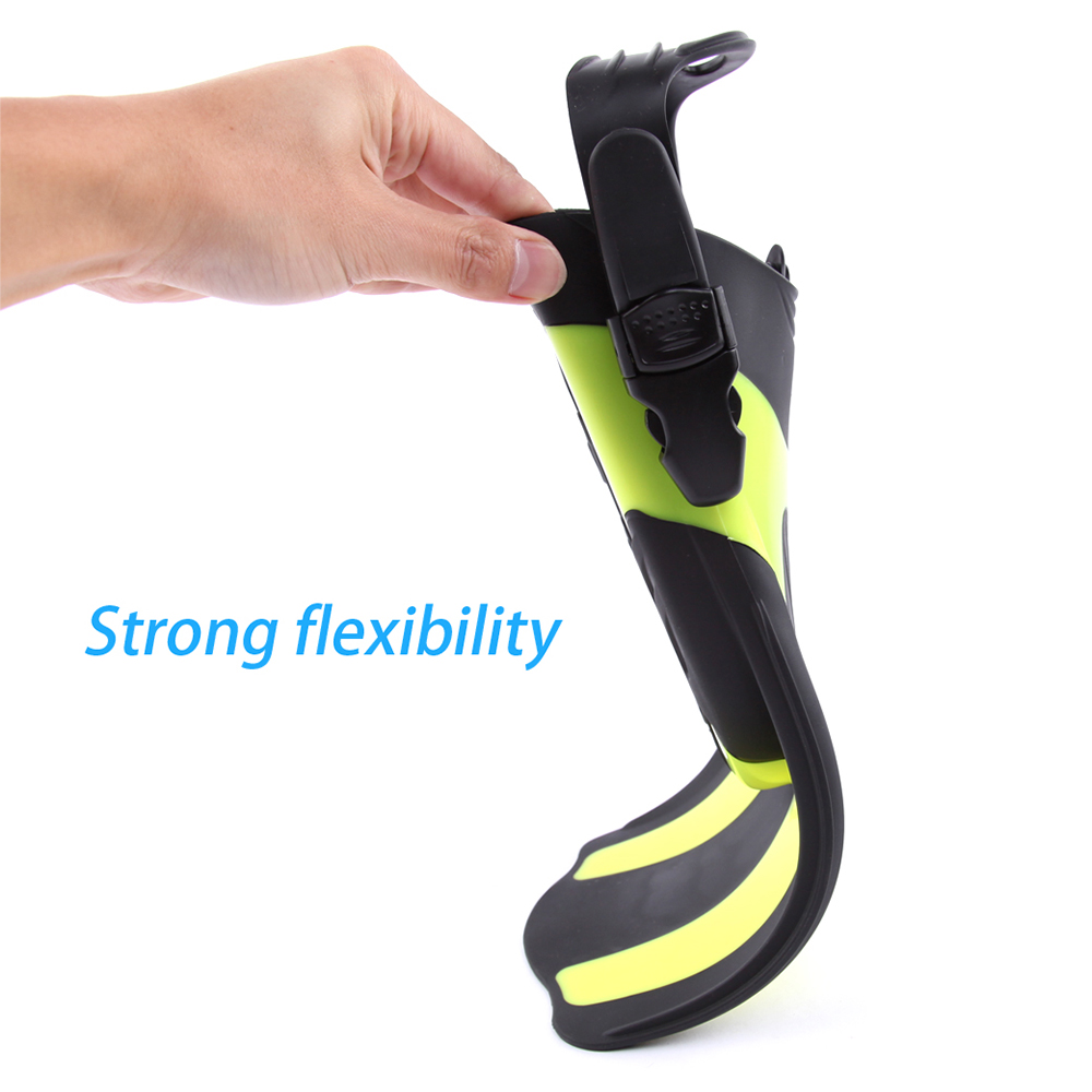 Snorkeling Diving Swim Fins Adult Short Snorkeling Swimming Fins Flippers with Adjustable Heel Water Sports Equipment Swim Fins in Swimming Fins from Sports Entertainment
