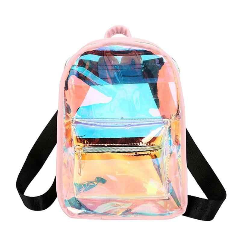 Mulheres laser mochila escola mochilas holograma estudante sacos de escola para adolescentes meninas holográfica ombro mochila feminina
