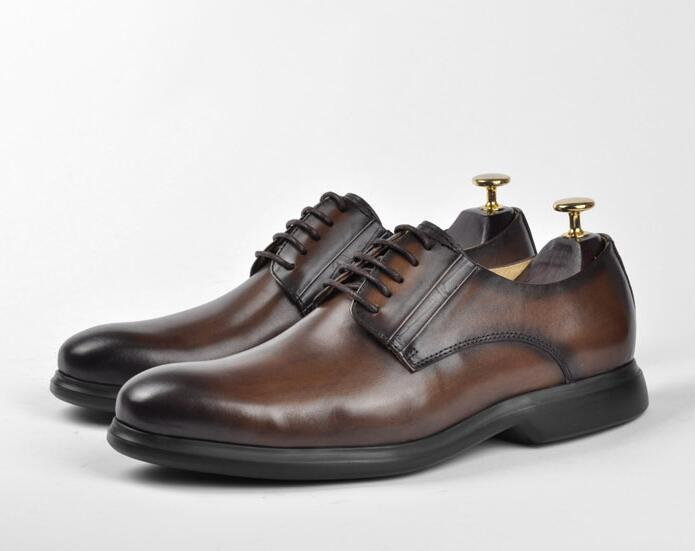 Hecho Zapatos Inteligente Hombres La De Los Chocolate A Mano Oxfords Nueva Cuero Casual Genuino Derby Color Mezcla Moda Lujo Vintage Negocios PCWWBZncg