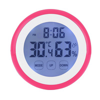 Thermometer Indoor Digital LCD Hygrometer Temperature Humidity Alarm Wall Clock For Home Temperature Humidity Meter