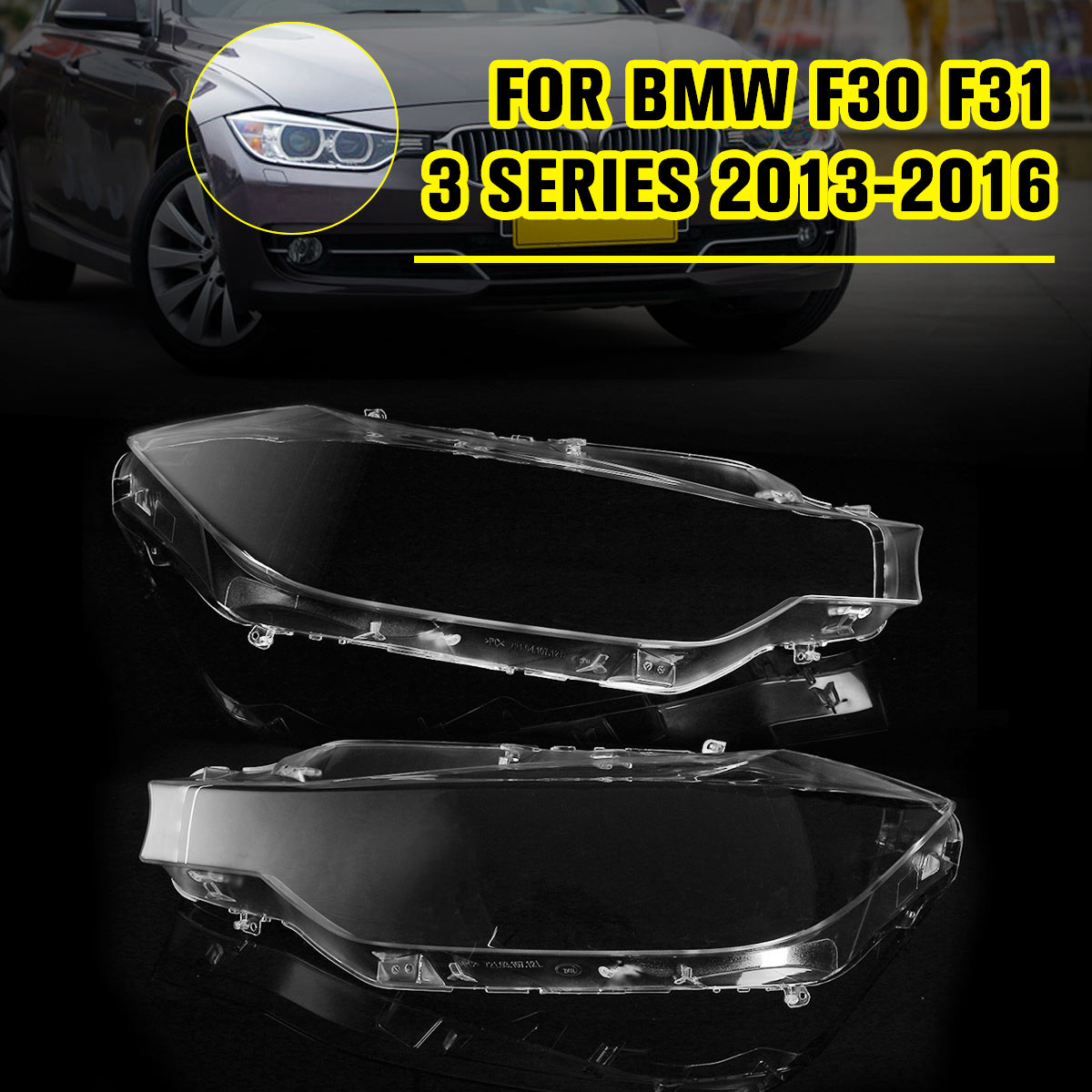 Front Right Headlight Headlamp Lens Lenses Cover For BMW F30 F31 For Sedan Touring 3 series 2013-2016Front Right Headlight Headlamp Lens Lenses Cover For BMW F30 F31 For Sedan Touring 3 series 2013-2016