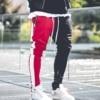 Mens Vogue Patchwork Contrast Color Hip Pop Joggers Pants Male Slim Sportswear Streetwear Pencil Harem Pants Trousers Slacks 3