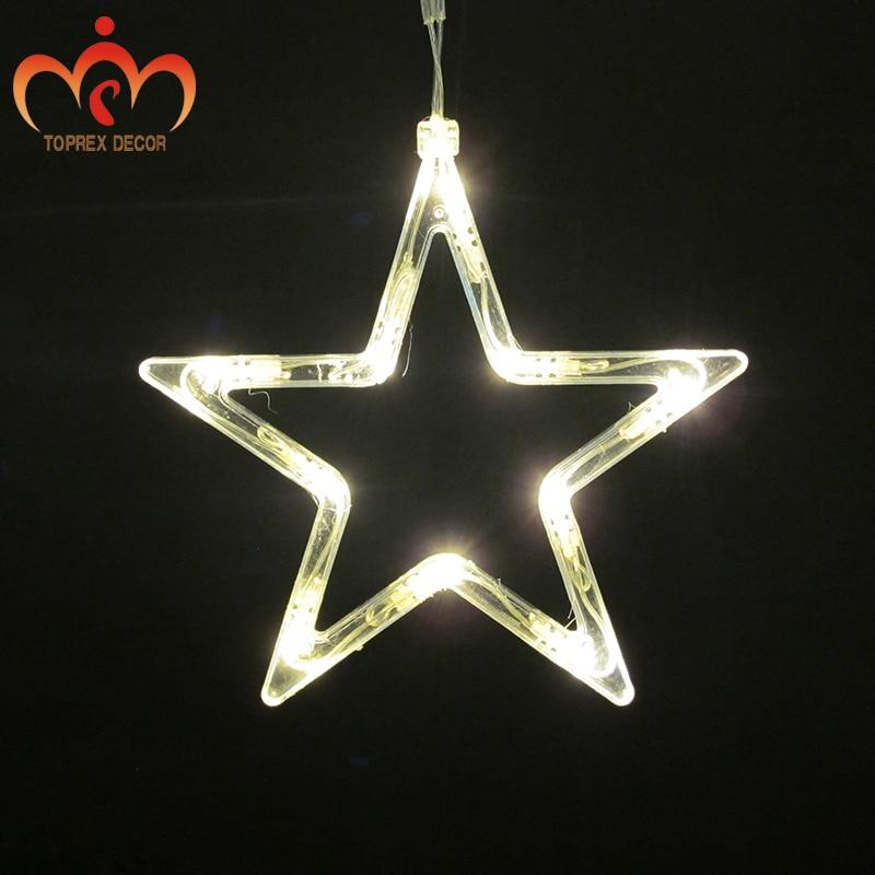 2.5x1.2 m 248 LEDs yanıp sönen LED Beş yıldız LED perde - Şenlikli Aydınlatma - Fotoğraf 6