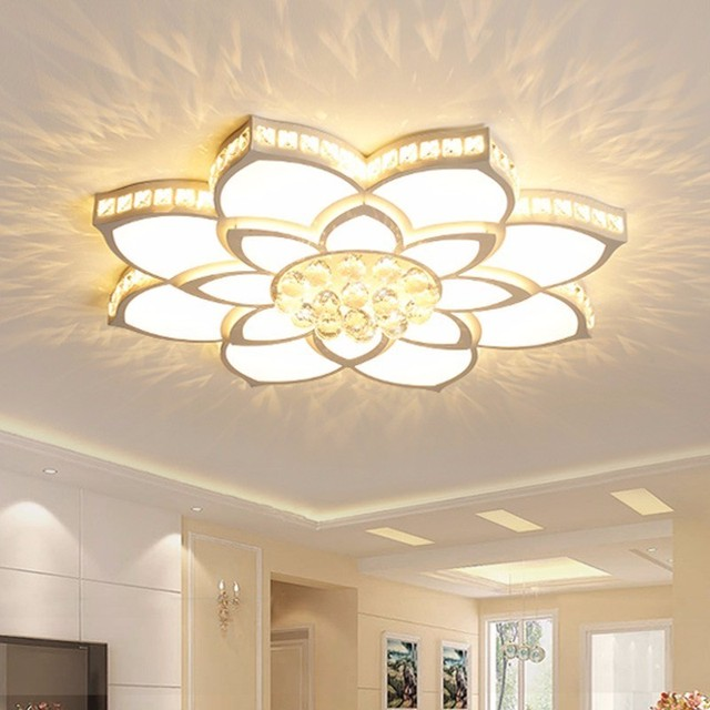K9 Crystal Modern LED Ceiling Lights Fixture For Living Dining Room Home Lighting Bedroom Lamp Plafon Lustre With Remote Control