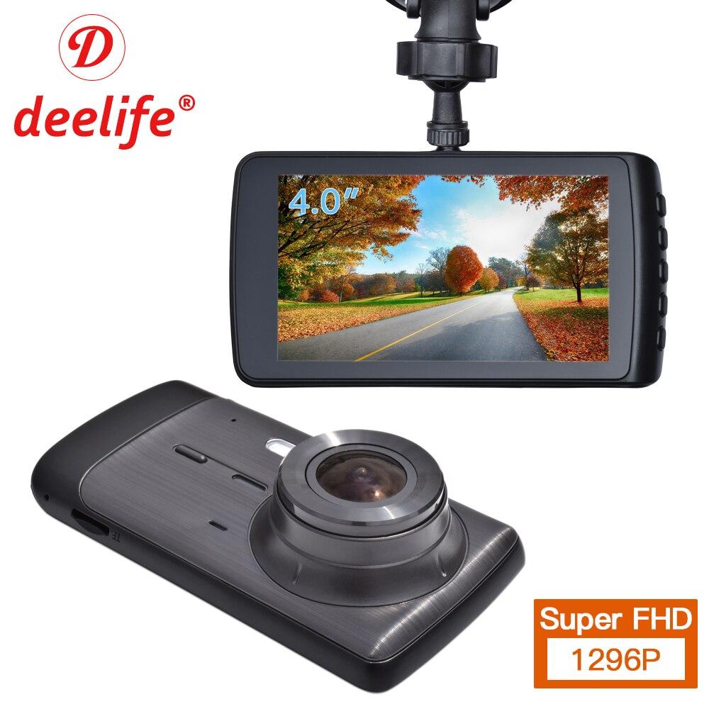 Deelife dvr de voiture Tableau de Bord Caméra Cam Full HD enregistreur vidéo Registrator Auto Double Caméras pour Dans Les Voitures Dashcam Véhicule Noir Dvr Boîte