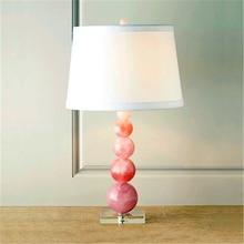 ModernLED Pink Crystal Table Lamp Bedroom Bedside Decorative Lighting Table Lights Hotel Living Room Indoor Reading Lamps Avize все цены