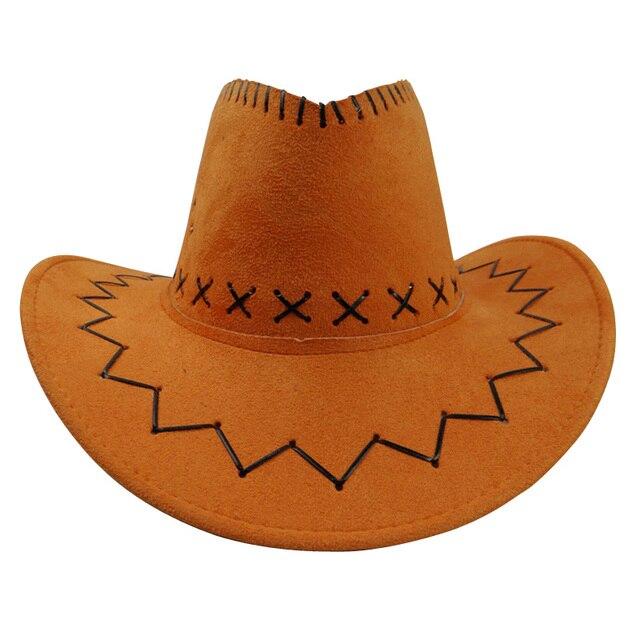 c801d144922 Fashion Retro Unisex Denim Wild West Cowboy Cowgirl Rodeo Fancy Dress  Accessory Hats orange