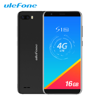 Ulefone S1 Pro Mobile Phone Android 8.1 5.5 inch 18:9 MTK6739 Quad Core 1GB RAM 16GB ROM 13MP+5MP Rear Dual Camera 4G Smartphone