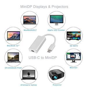 Image 5 - Newest Thunderbolt 3 USB C to Mini DisplayPort Converter 4K@60HZ Type C to Mini DP Adapter for MacBook Hot sale!