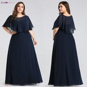Image 5 - Evening Dresses Long 2020 Ever Pretty Cheap Elegant Navy Blue A line Chiffon Evening Gowns For Women Short Sleeve Robe De Soiree