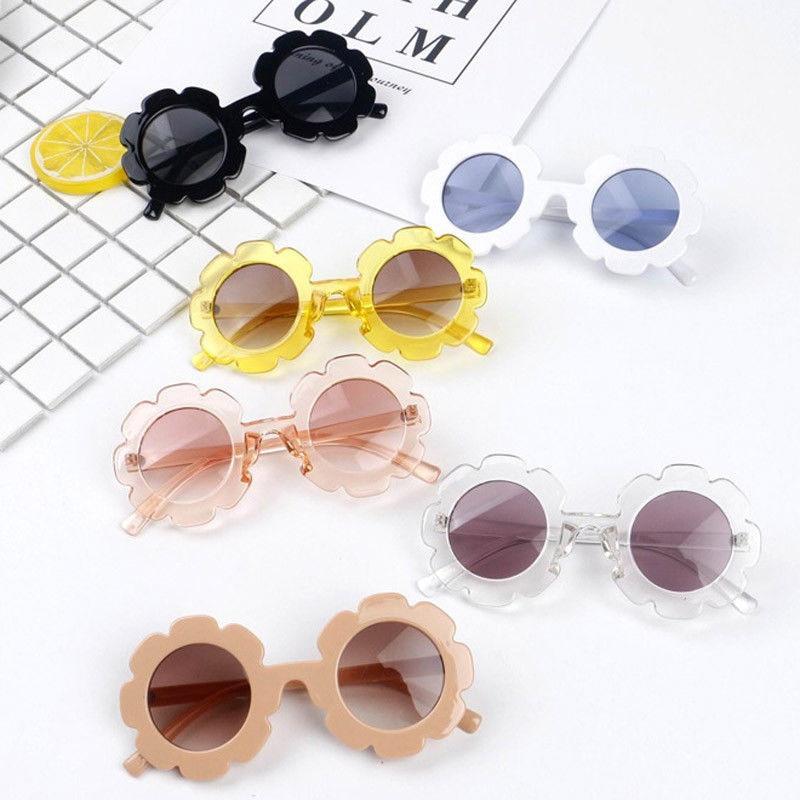 2019 New Baby Kids Sunflower Sunglasses Novelty Toys Child Boys Girls Shades Baby ANTI-UV Sun Glasses Outdoor