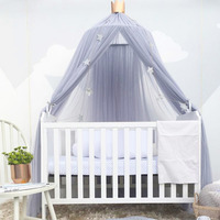 Mosquito Net To Cradle The Baby Princess Dome Bed Canopy Bed Of Children Round Lace Net For The Baby To Sleep 5 Colours.