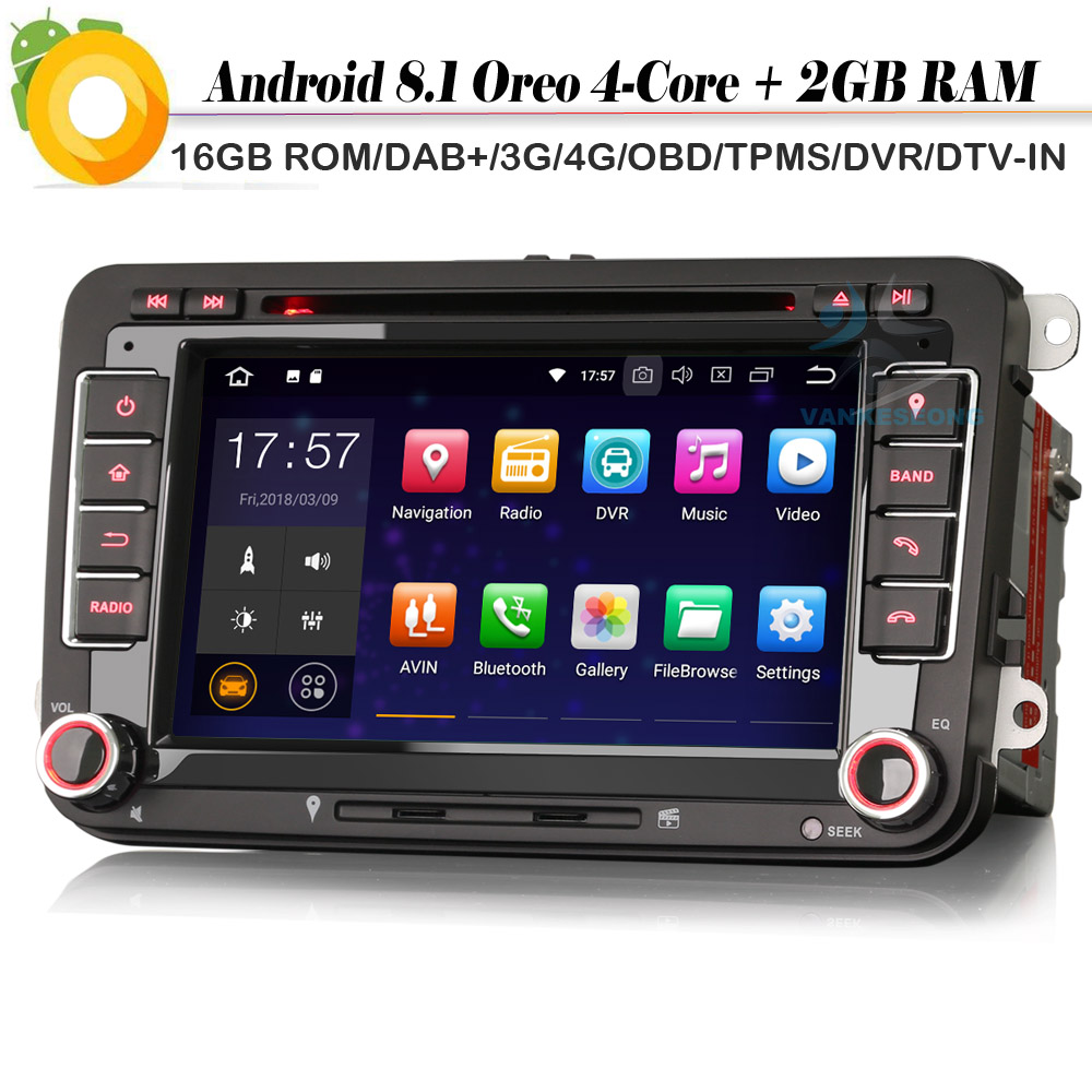 quad core android 8 1 autoradio dab car stereo wifi 4g. Black Bedroom Furniture Sets. Home Design Ideas