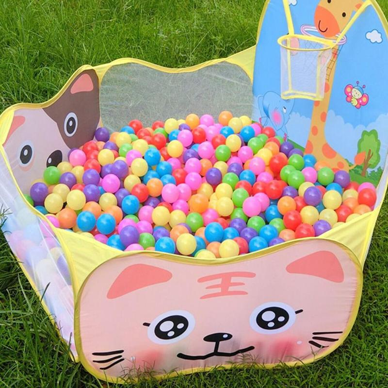 Children Kid Play House Tent Cartoon Cast Basketball Pool Toys For Children Basket Outdoor Game Large Tent for Kids Ball Pit image