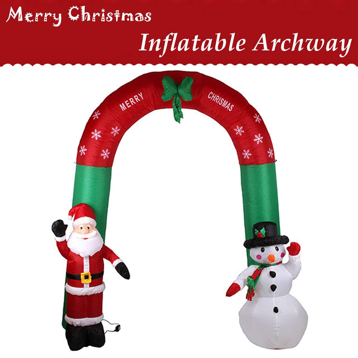 2.4 M grandes Arches de neige gonflables jouet père noël décoration de noël pour les hôtels souper marché lieux de divertissement vacances