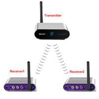 measy av550 5.8G 500M Portable Hdmi Sender Office Video Av Sender Hdmi Home Wireless Wireless Av Sender Movie 1TX to 2RX