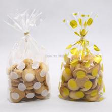 Белый золотой пакет с отделкой в горошек печенье diy подарочные пакеты для конфеты для рождественской вечеринки еда и мыло ручной работы упаковка 20 шт./лот