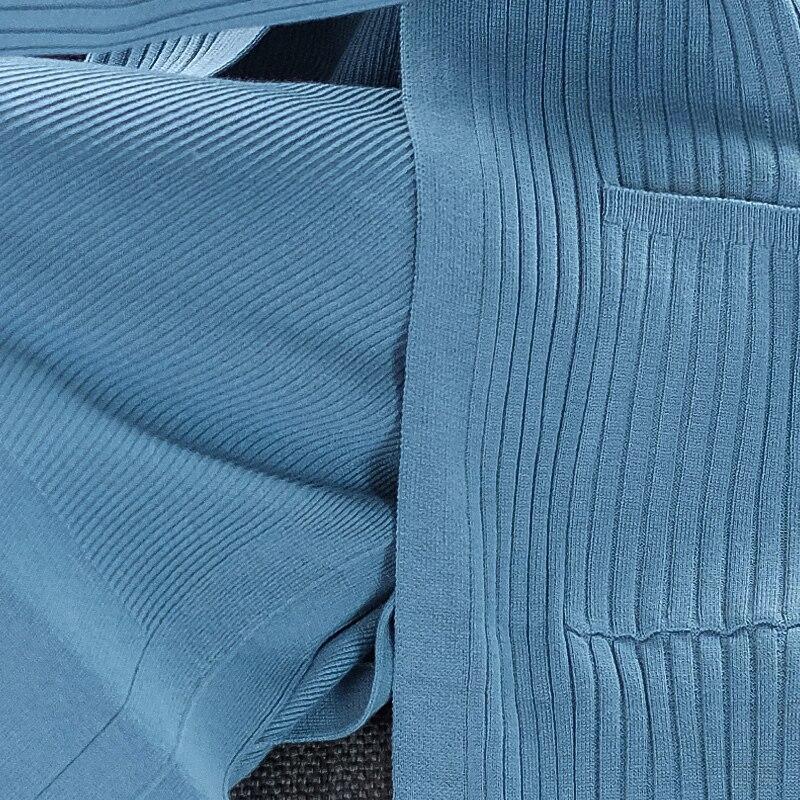 Tan Printemps blue 3 Tailleur Cardigan Col Light Ol Laine Fente À Banlieue Automne Couleurs Longue Pièces Ensemble Femmes black Lacets Xl 2 Uni mélange Costume V wgqSAXS