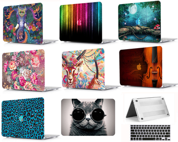цена на Laptop Shell Case Keyboard Cover Bag Film Protector For 11 12 13 15Release 2018 Macbook Air Pro A1989 A1990 A1706 A1466 HK