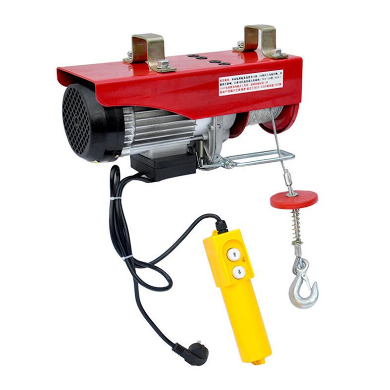 400/800KG 220V Mini Hoist Electric Crane Hoisting Machine With Wire Rope Pulling PA600 110v/220v