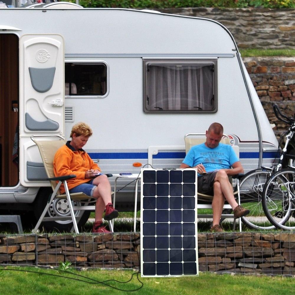 Chargeur solaire résistant à la poussière de choc de l'eau de chargeur de panneau solaire de voiture d'allpowers 100 W 18 V 12 V pour le chargeur portatif de tente de cabine de bateau de RV