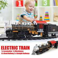 Classic Electric Train Passenger Carriage Kids Railway Track Train Toy Passenger Carriage Educational Toys Gift(China)