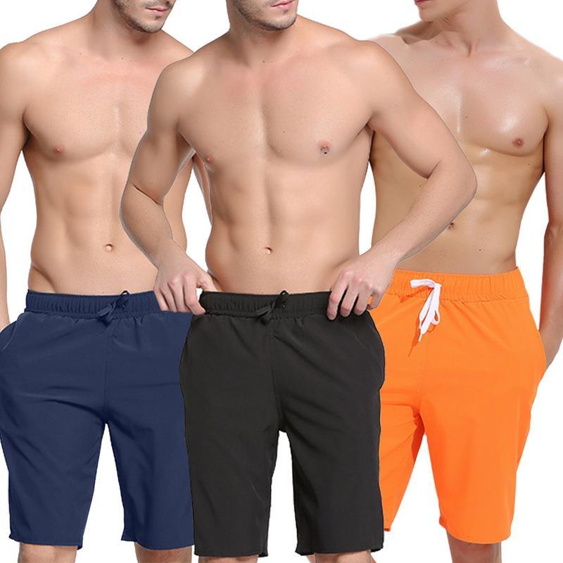 Men Swimwear Swim Shorts Trunks Quick-Dry Beach Board Shorts Swimming Short Pants Swimsuits Men Running Sports Surffing Shorts