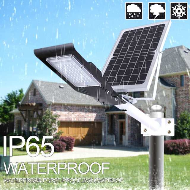 Newest 60W 48LED Solar Light Lamps Waterproof Solar powered Outdoor Solar Wall Lamps Street Light Garden Lamp Remote Controller