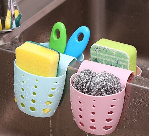 Kitchen Sink Saddle Style Double Silicone Sponge Holder Sink Rack Storage Organizer Soap Kitchen Gadgets Dish Kitchen Drain Bag