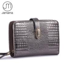 Jamarna cüzdan kadın hakiki deri kadın cüzdan timsah desen kısa küçük cüzdan manyetik toka kadın çanta kart tutucu