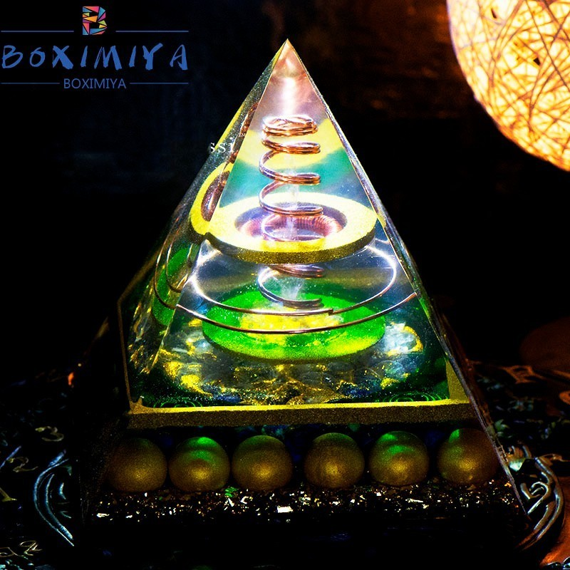 2019 Hot Sale Orgonite 13 5cm Pyramid Reiki Healing Energy Amplifier Stone  That Changes The Magnetic