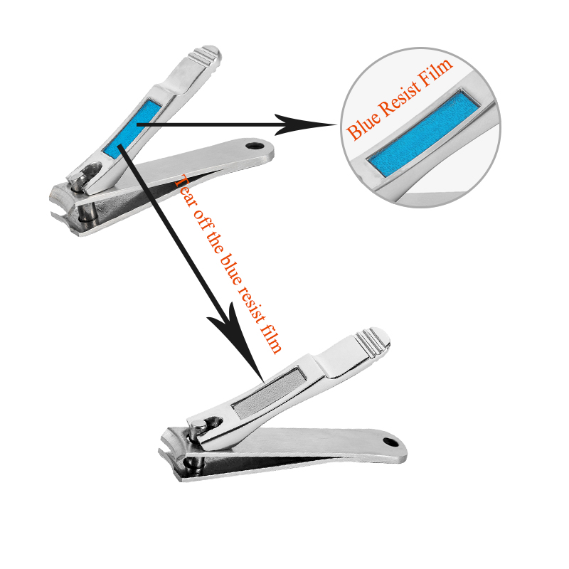 Meisha 2Pcs Professional Nail Clippers Stainless Steel Toenail Fingernail Manicure Trimmer High Quality Nail Clippers Set HE0004 in Clippers Trimmers from Beauty Health