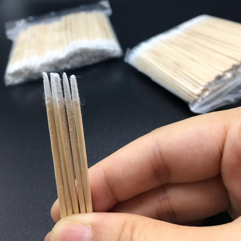300pcs Women Cotton Swab Makeup 100% Cotton Buds Eyelash Extension Tools Wood Sticks Ears Cleaning Cosmetics Health Care