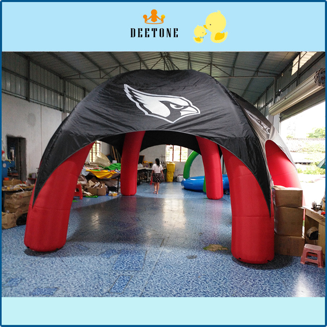 Hot sale 7/7m diameter Oxford cloth inflatable tent with fan