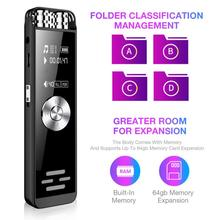 Radio Fm Digital Voice Recorder Dual Microphone Dictaphone Sound Activated Recorder Portable Rechargeable HD Audio Recorder цена