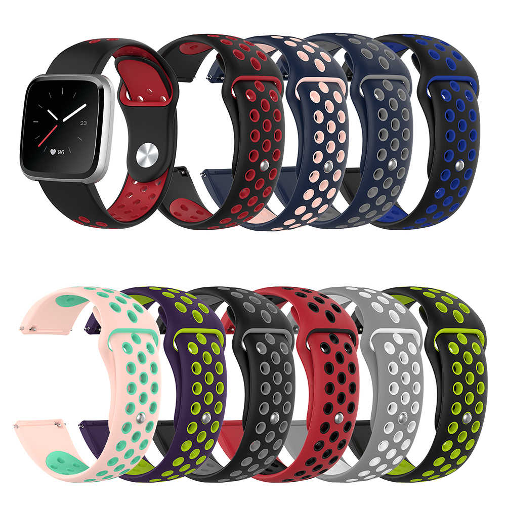 Best Selling Replacement Soft Silicone  Sports Watch Band Strap for Fitbit Versa Lite