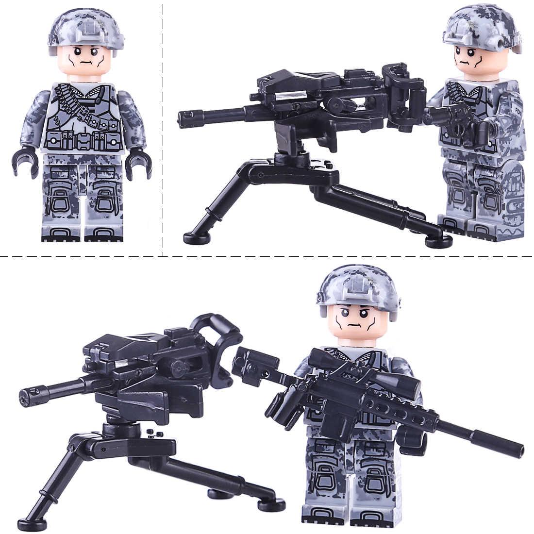 6 pcs Mar Aeroterrestre Equipe Leopardo Greve Crianças Montagem Boneca Toy Bloco de Construção de Mini Jogos De Tabuleiro De Mesa Crianças