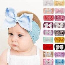 4b1a66a5981ec 18 couleurs doux bébé filles grand arc bandeau bandeau princesse Stretch  Turban gros noeud tête-Wrap mode bandeau élastique