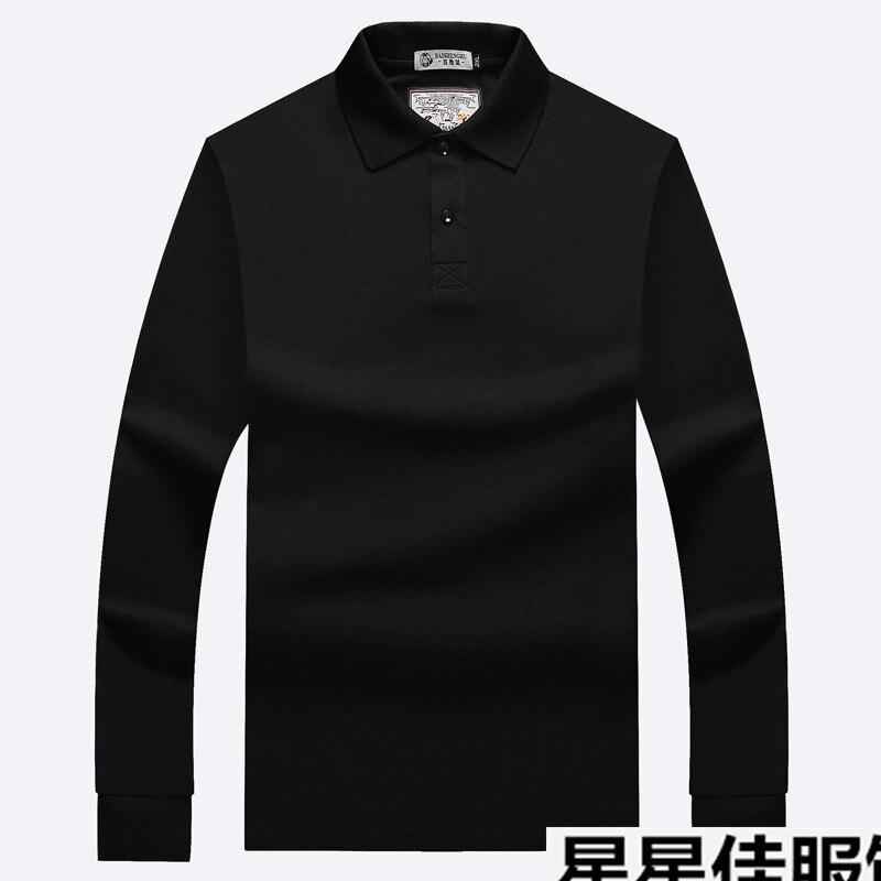 8XL 6XL 2018 hommes Polo chemise printemps automne à manches longues Polos chemise hommes couleur bloc coton chemise mode marque décontracté t-shirts