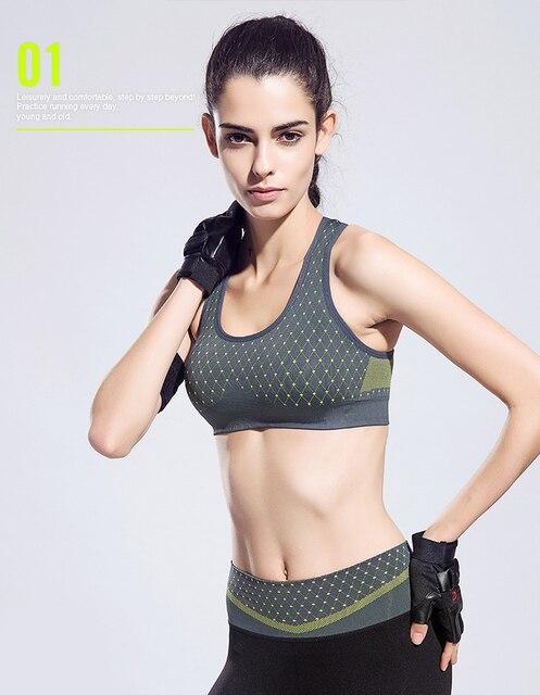 c3ae1d3c95 Activewear Sports Bra Underwear Women Running fitness Vest High Stretch  Tank tops Gym Anti-sweat Seamless Halter Bras